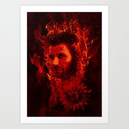 Lucifer in flames Art Print