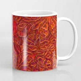 Burnt Orange Textured Abstract Coffee Mug