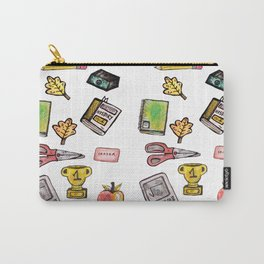 School Daze Print Carry-All Pouch