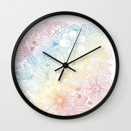 mostly harmless - rainbow Wall Clock