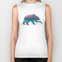 country Biker Tanks featuring Bear Country by Rick Crane