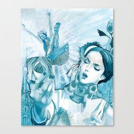 The Peacock & The Crane Canvas Print