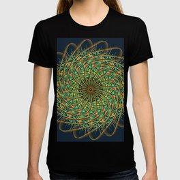 Mandala Art Pattern Yellow and Green T-shirt