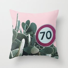 Cactus Route Throw Pillow