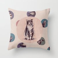 kafka Throw Pillows featuring Kafka by Ludovica Liu
