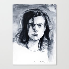 Harry Watercolors B/N Canvas Print