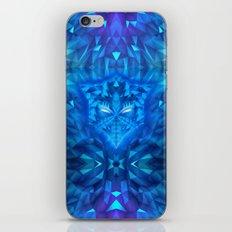 Deep Ice Blue - Sub Zero Transformers Wolf Mask Portait  iPhone Skin