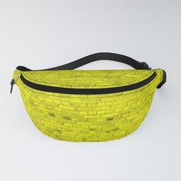 Bright Neon Yellow Brick Wall Fanny Pack