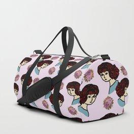 redhead girl pink Duffle Bag