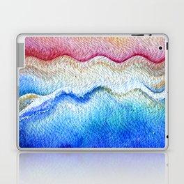 Sunset waves in watercolor Laptop & iPad Skin