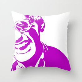 Ray Charles – Pink Throw Pillow