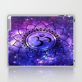 Om Mandala: Purple Blue Galaxy Laptop & iPad Skin