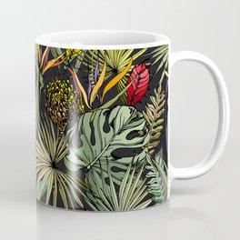 Tropical pattern on black Coffee Mug
