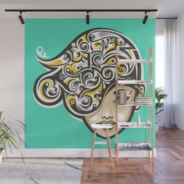 Swirly thoughts Wall Mural