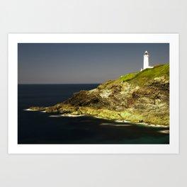Trevose Head Lighthouse, Cornwall, United Kingdom Art Print