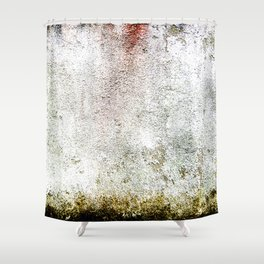 Abstract wall red painting Shower Curtain