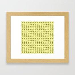 Jeff Goldblum Pattern Gold Framed Art Print