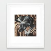 gizmo Framed Art Prints featuring Gizmo by Athena Cooper