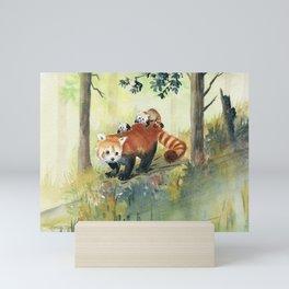 Red Panda Family Mini Art Print
