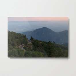Mountain Drive at Sunset (Running Springs, California) Metal Print