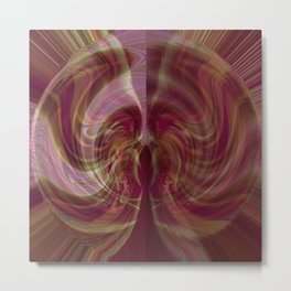 Succulent Glasswork v.5 Metal Print