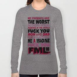 Shitty Kid Wanted an iPhone Long Sleeve T-shirt
