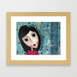 Coco's Closet- Be Kind. Be Brave. Be Honest. Be Daring Framed Art Print