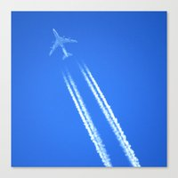 airplane Canvas Prints featuring Airplane by Uldis Ķēniņš