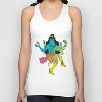 shiva Tank Tops featuring Lord Shiva by xDiNKix