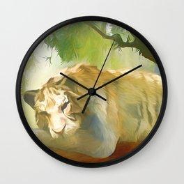 Chilling Tiger Wall Clock