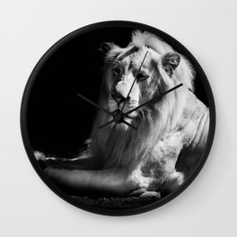 The King Black and White Wall Clock