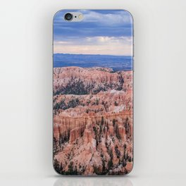 Sunset over Hoodoos - Bryce Canyon National Park, Rocky Natural Landscape, Utah Hiking Photography iPhone Skin