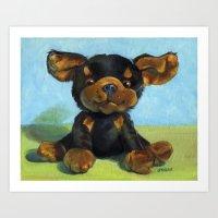 Gizmo, the Wonder Dog! Art Print