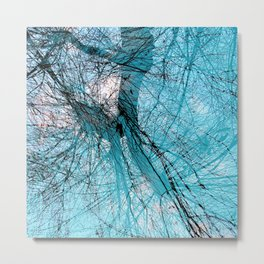 Wire Willows Metal Print