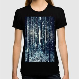 Magical Forest Teal Gray Elegance T-shirt
