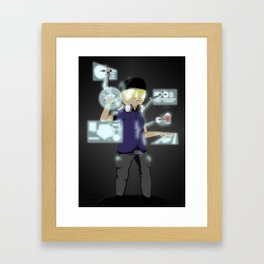 Spider in the Cyber web Framed Art Print