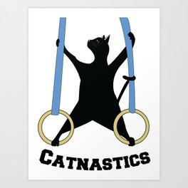Catnastics Rings Art Print