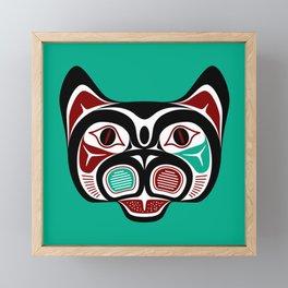 Northwest Pacific coast Haida Kitty Framed Mini Art Print