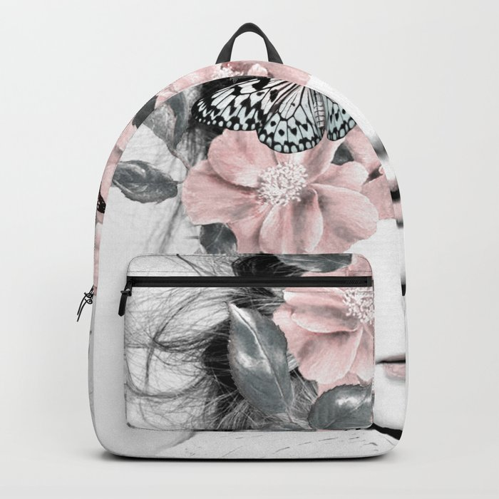 WOMAN WITH FLOWERS 10 Rucksack