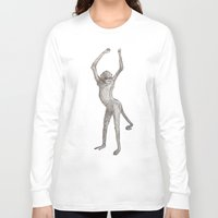 booty Long Sleeve T-shirts featuring Monkey Booty by Philumptuous