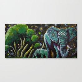 Elephunk, Peanut, and the Cosm Tree Canvas Print