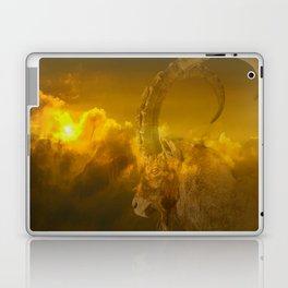 Alpine - Ibex with cloudy sunset background - #Society6 #buyart Laptop & iPad Skin