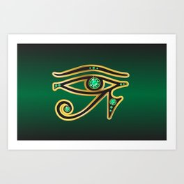 Eye of Ra Emerald Art Print