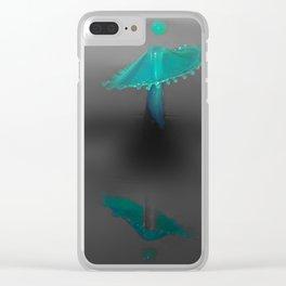 blue drop Clear iPhone Case