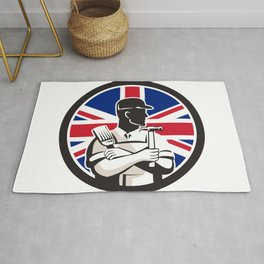 British DIY Expert Union Jack Flag Icon Rug