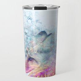Abstract Pastel Fox Travel Mug