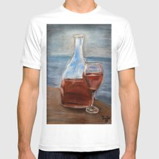 Elegance with ambiance White Mens Fitted Tee MEDIUM