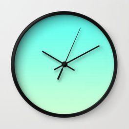 Pastel Mint Green Blue Teal Ombre Gradient Pattern Soft Spring Summer Texture Wall Clock