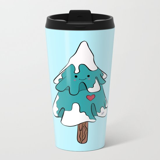Cute pine tree Metal Travel Mug