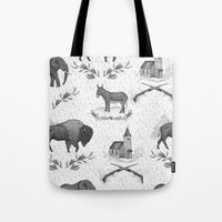 political Tote Bags featuring Political Toile by Jessica Roux